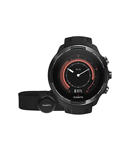 Amazon.com: Suunto 9 Multisport GPS Watch with BARO and Wrist-Based Heart Rate (Black with HR Belt): GPS & Navigation