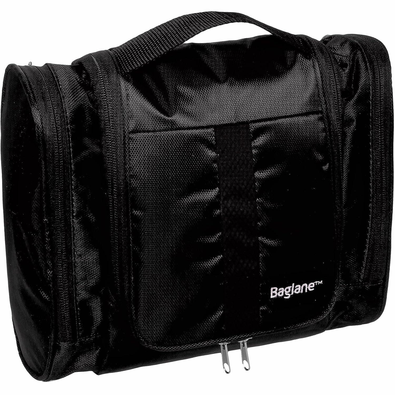a2338958f8 Travel Toiletry Bag for Men by Baglane - Travel Kit Toiletries Packing  Organizer (Black)  Amazon.co.uk  Clothing