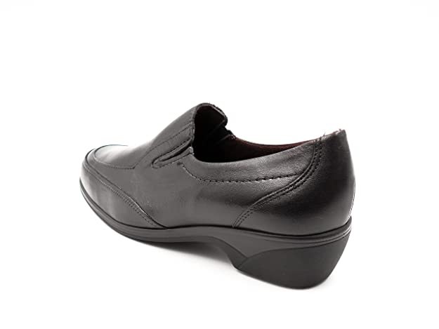 Mocasín cómodo Mujer PITILLOS en Piel Color Negro - 1010-103: Amazon.es: Zapatos y complementos