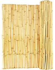 """Backyard X-Scapes BAMA-BF01 Natural Rolled Bamboo Fence, 3/4"""" D x 3' H x 6' L"""