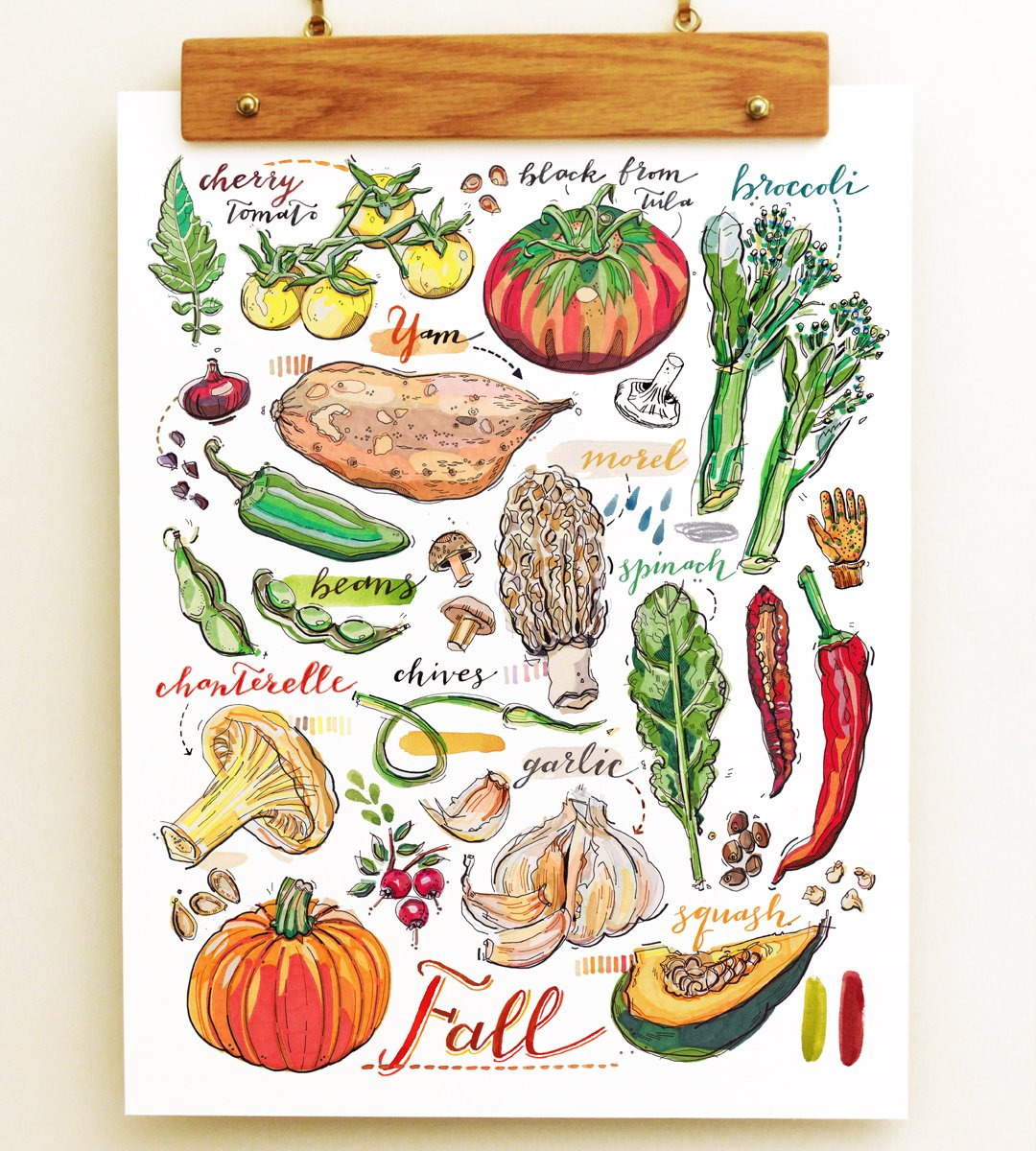 Fall Garden Print. by LouPaper