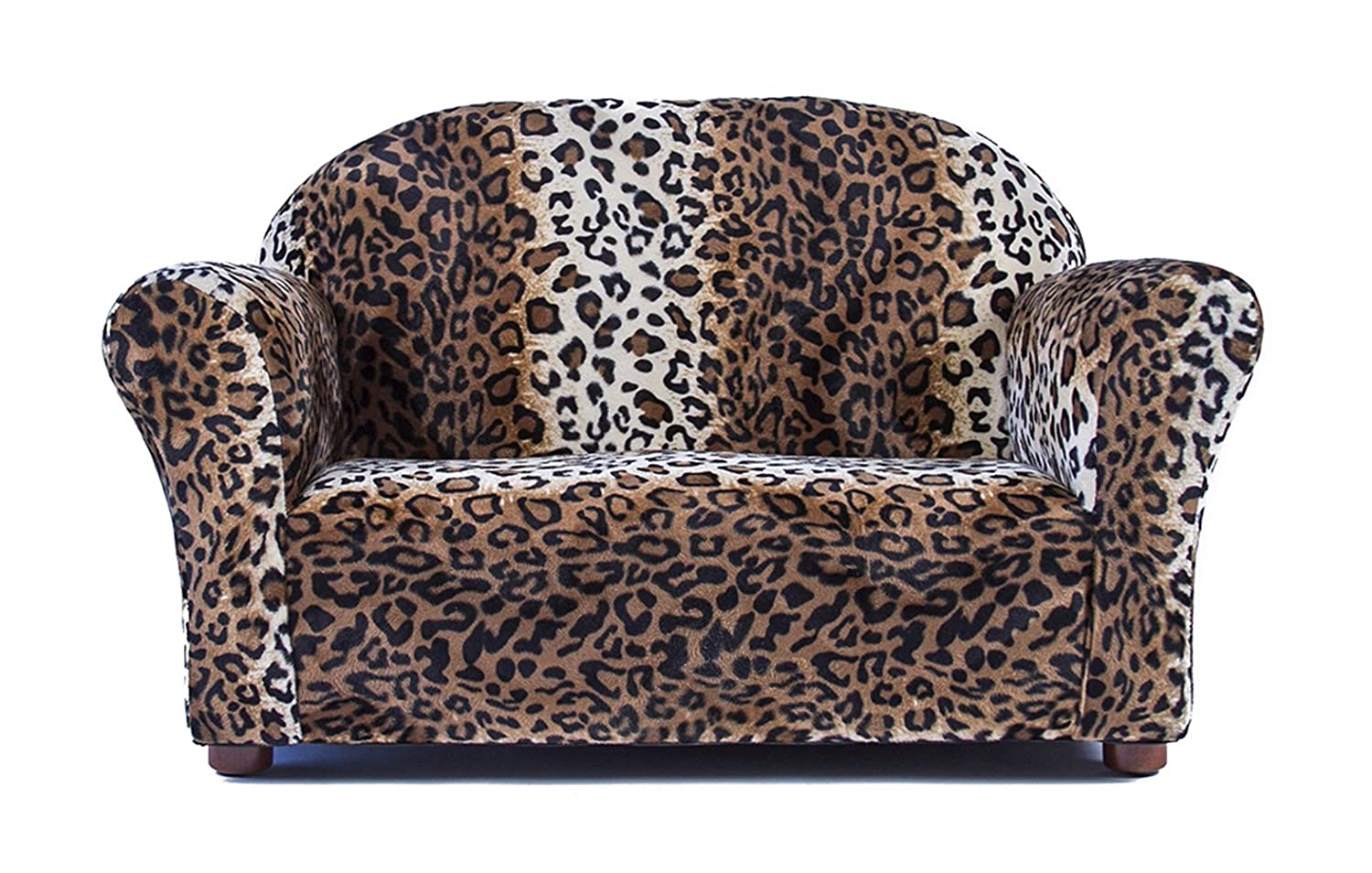 Keet Roundy Faux Fur Children's Sofa, Leopard SR22