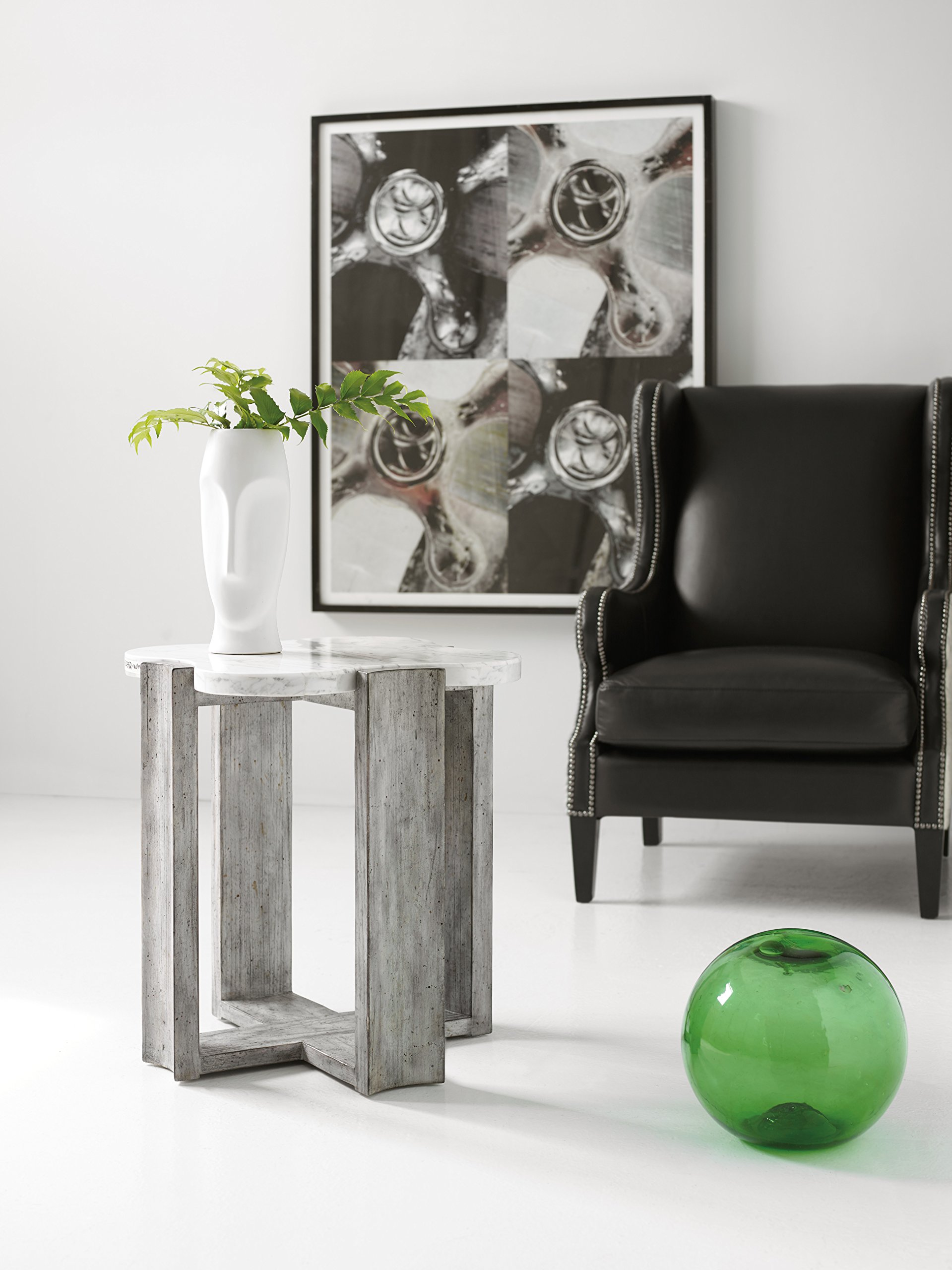 Harris & Terry AMZ2274254 End Table, Gray - Gray wood Finish Modern/contemporary style Marble Top - living-room-furniture, living-room, end-tables - 81uqcurZw L -
