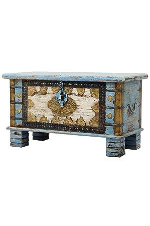 Orientalische Truhe Kiste aus Holz Ezgi 80cm groß in Antik | Vintage ...