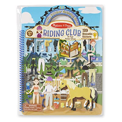 Melissa & Doug Puffy Sticker Play Set, Riding Club (Reusable Activity Book,139 Stickers, Great for Travel, Great Gift for Girls and Boys – Best for 4, 5, 6, 7 and 8 Year Olds): Melissa & Doug: Toys & Games