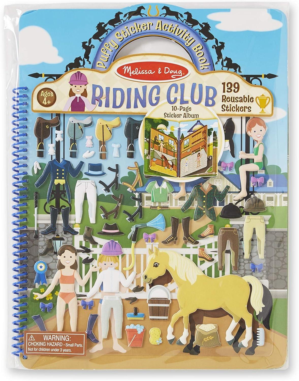 Melissa & Doug Puffy Sticker Activity Book: Riding Club - 139 Reusable Stickers