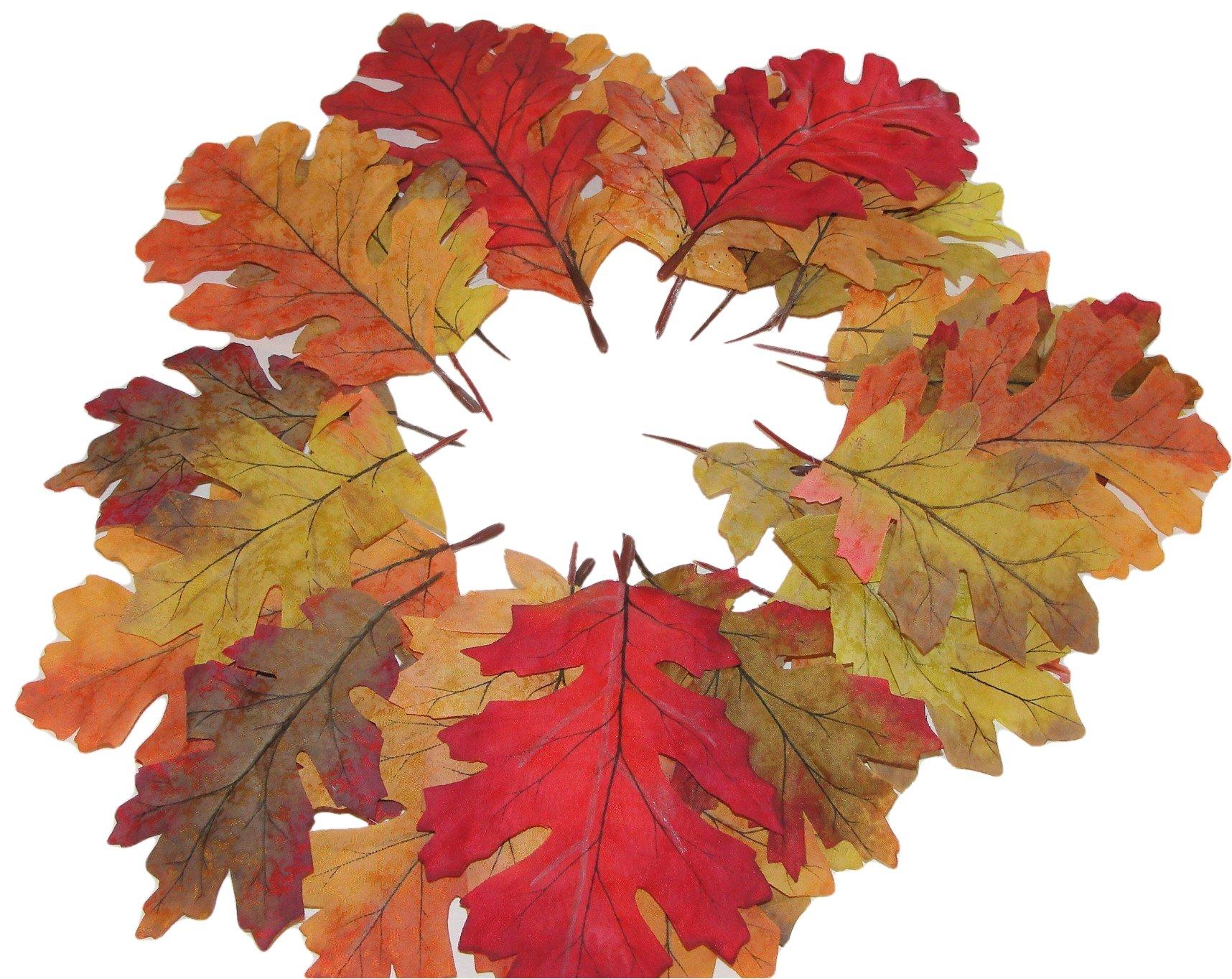 silk flower arrangements elegant blooms & things fall silk leaves, mixed colors & sizes, 35 pcs