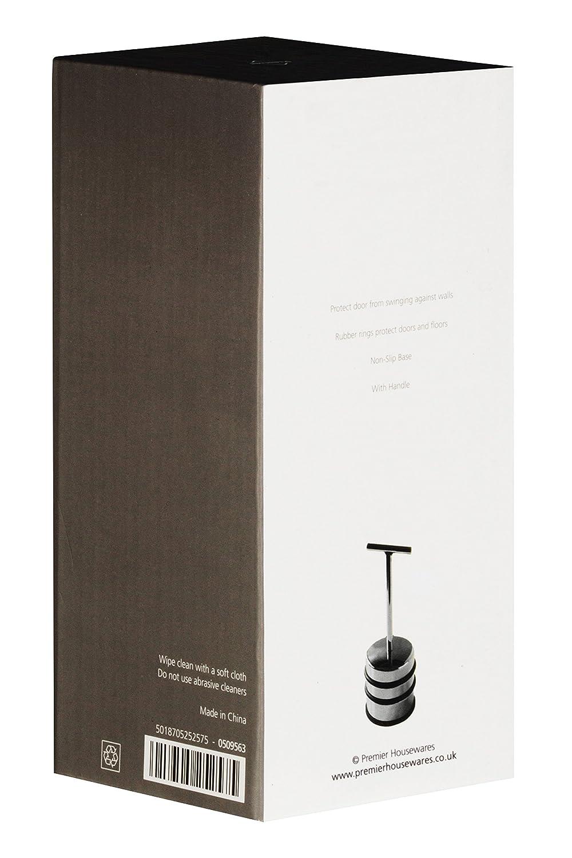 16 cm x 7 cm x 7 cm Premier Housewares 0509563 Fermaporta con Impugnatura Cromato