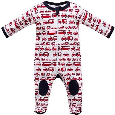 a7a259efc9 Baby Strampler Schlafanzug mit Füßen Größe 0-24 Monate Autos: Amazon ...