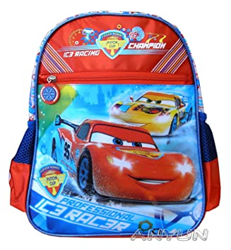 e41f12d74a3f11 ZAINO ASILO DISNEY PIXAR CARS ICE RACERS CM 30X25X11: Amazon.it: Giochi e  giocattoli