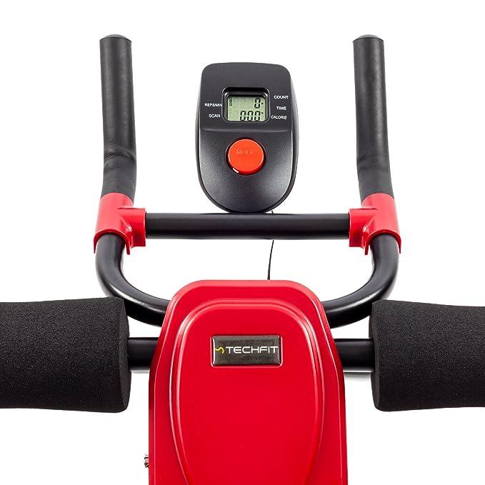 TechFit - Dispositivo Modelador para Abdomen Plegable, Equipo de Fitness Vertical, Ab Trainer, Apoyo Firme para Abdomen, Dispositivo para la Talla, ...