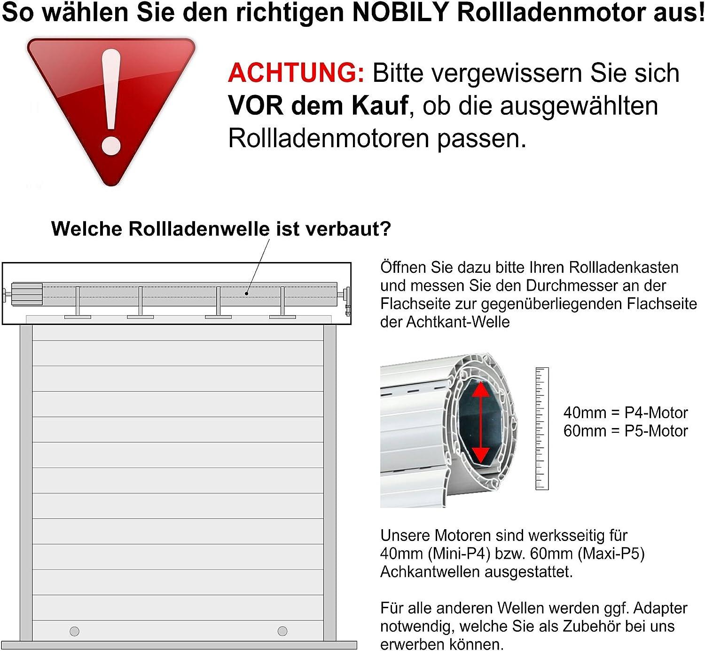 vidaXL Rohrmotor Rolladenmotor Rollladenmotor Rolladenantrieb mehrere Auswahl
