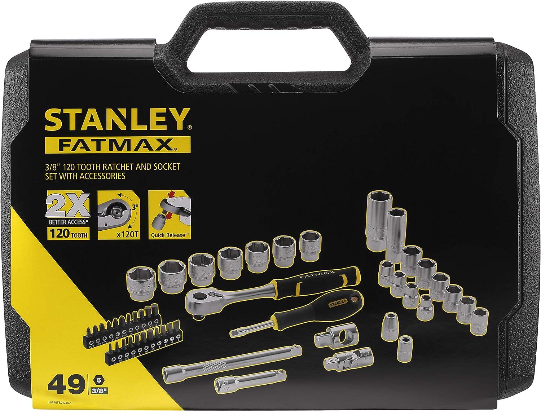 T/ête Compacte pour une Accessibilit/é Optimale 3//8 Gamme Fatmax Stanley Fmmt82677-0 Cliquet 120 Dents Inversion une Main Angle de Reprise 3/° /Éjection Facile et Rapide Manche Bi-Mati/ère