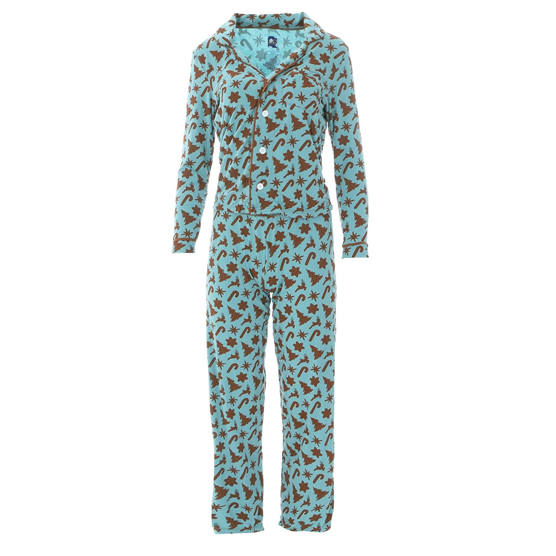 8cd2250fd740 Kickee Pants Women s Holiday Collared Pajama Set at Amazon Women s ...