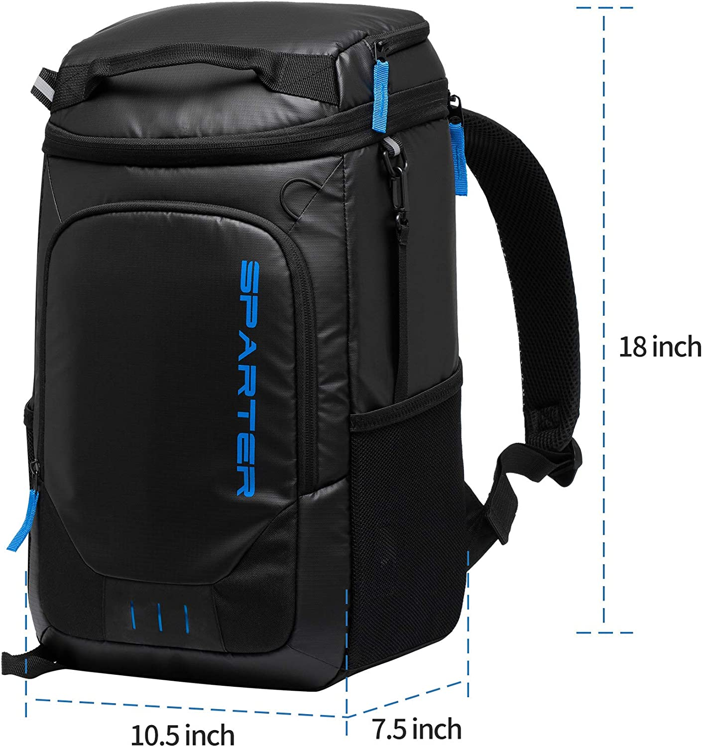 SPARTER Cooler Backpack 30//32 Cans Lightweight Insulated Backpack Cooler Leak-Proof Cooler Bag Large Capacity for Picnics Hiking Beach Park Camping