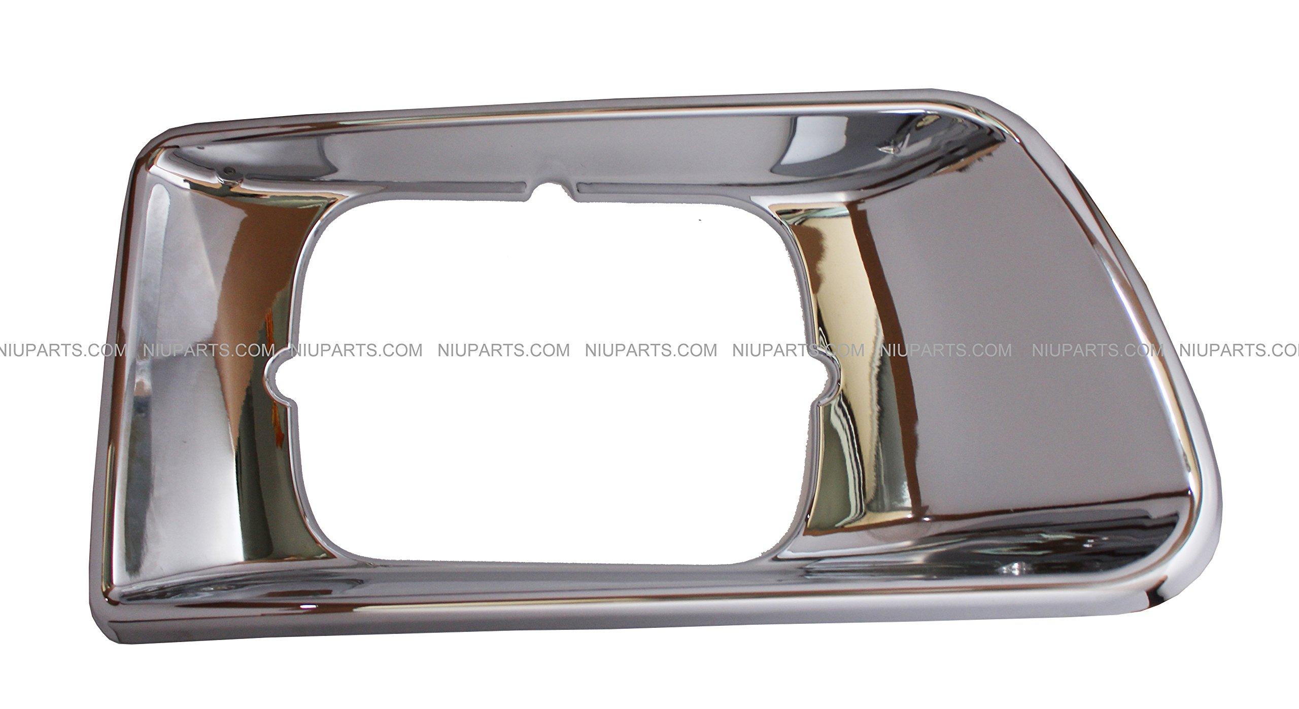 Headlight Bezel Chrome - Passenger Side (Fit; Kenworth T300 T330) by NIUPARTS