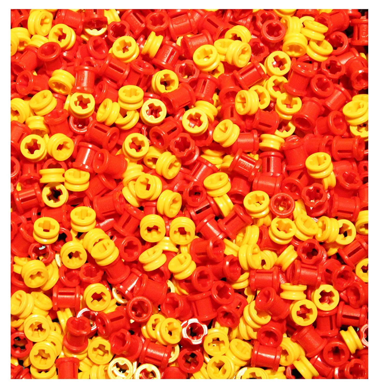 LEGO NEW Technic 100 pcs YELLOW BUSH Half Bushing 1//2 Axle Connector Part 4265c