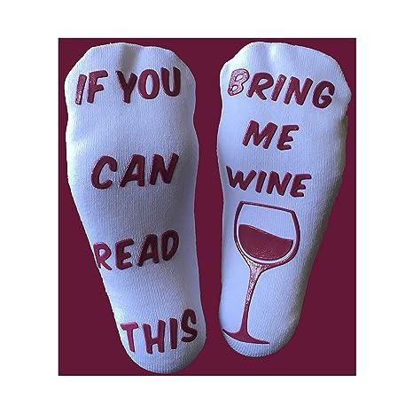 """6618eca7e7adc Coton Peigné de luxe""""Bring Me Vin"""" Chaussettes - Idée cadeau, Fun,"""