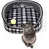 Deluxe Pet Round Bed for Cats and Small Dogs (17.5x14-inches)