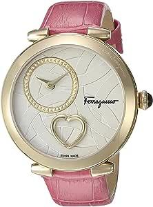 Salvatore Ferragamo Womens Cuore Ferragamo Watch Silver-IP Gold/Pink