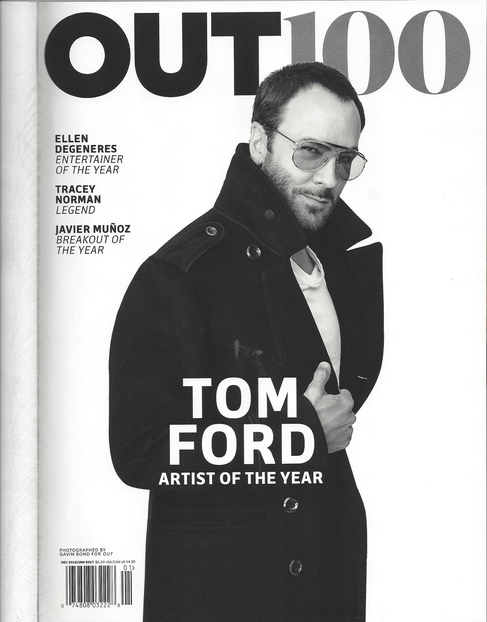 Out Magazine (December, 2016/January, 2017) Tom Ford Cover ebook