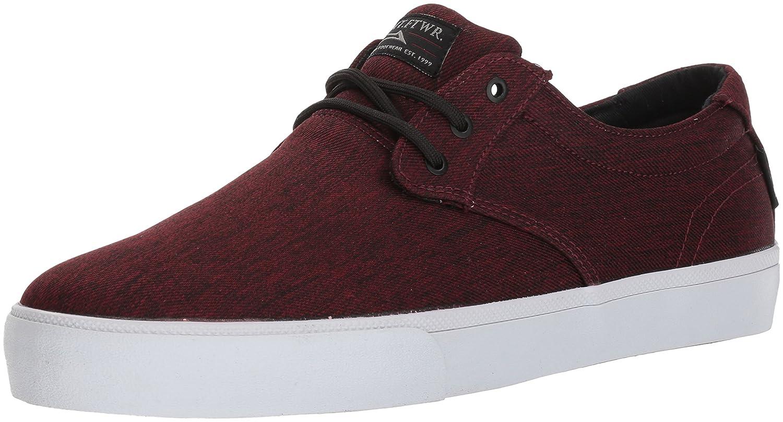 Lakai Daly Skate Shoe B073SPPJ6V 14 M US|Burgundy Textile