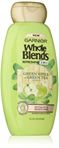Garnier Whole Blends Refreshing 2in1 Shampoo with Green Apple & Green Tea Extracts, 12.5 fl. oz.