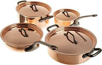 Matfer Bourgeat Matfer 915901 8 Piece Bourgeat Copper Cookware Set