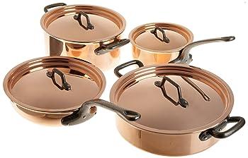 Matfer Bourgeat 915901 8-Piece Copper Cookware Set