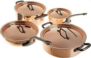 Matfer Bourgeat Matfer 915901 8 Piece Bourgeat Copper Cookware Set,