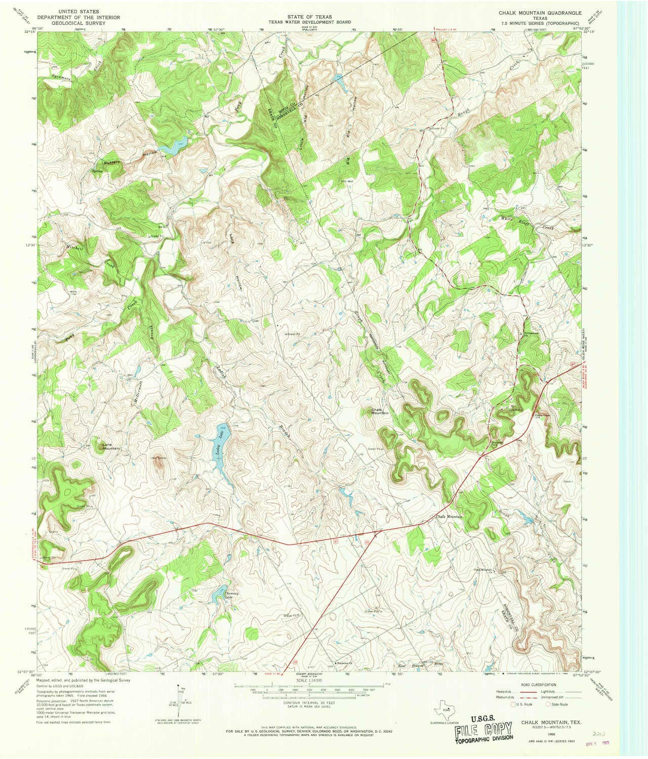 Amazon com : YellowMaps Chalk Mountain TX topo map, 1:24000