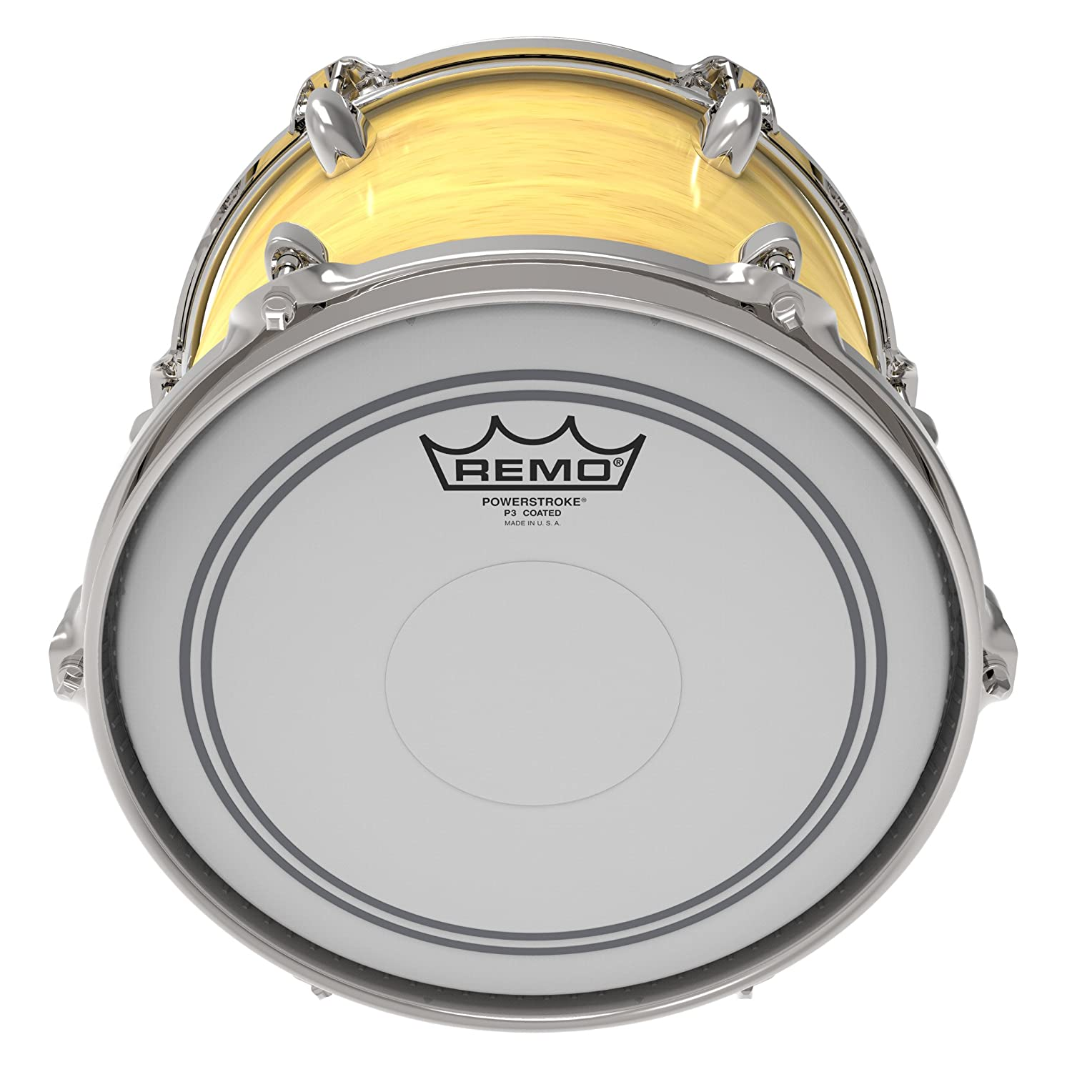 13-Inch Remo P30113-C2 Coated Powerstroke 3 Drum Head Clear Dot on Top