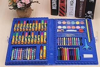 Uso dell'allievo della cancelleria della scuola Pennelli per pennelli a acquerello da 86 pezzi per bambini (custodia blu) WeieW