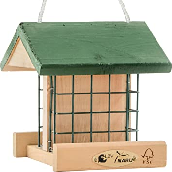 CJ Wildlife Wildvogel Futterhaus FSC-Holz Futterstation empfoheln vom NABU+LBV