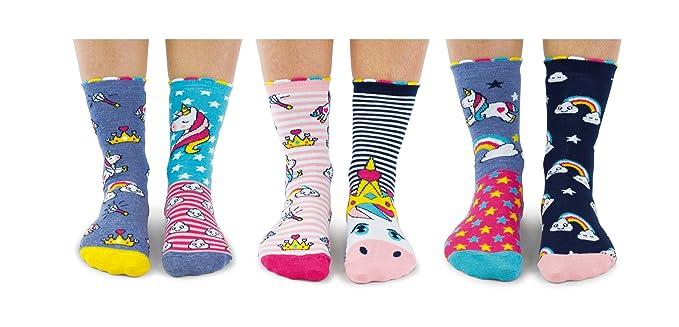 Unicorn Daze - Caja 6 calcetines unidos para niñas: Amazon.es: Ropa y accesorios