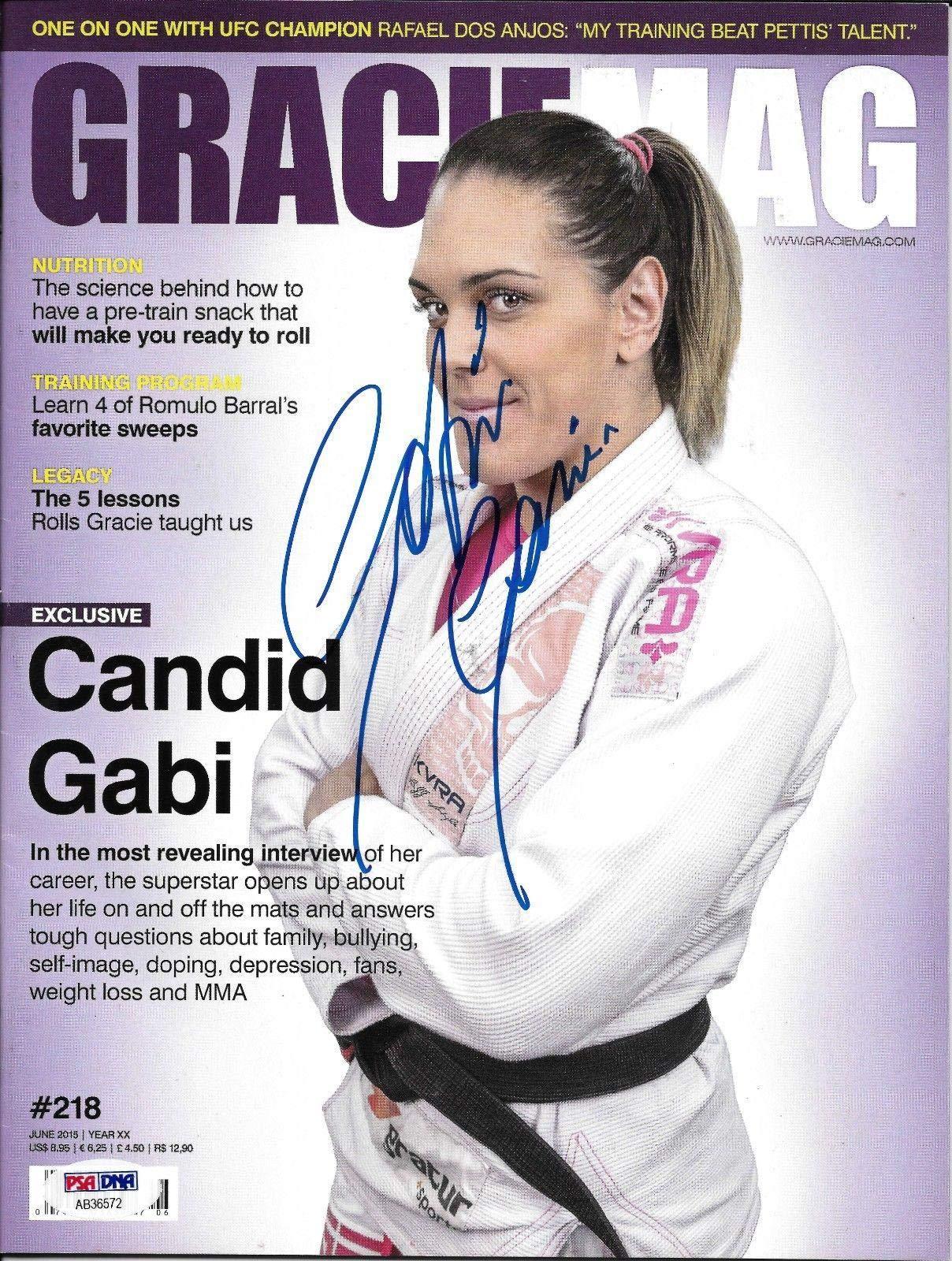 Gabi Garcia Signed June 2015 Gracie Magazine COA Rizin FF Jiu Jitsu Auto PSA/DNA Certified Autographed Sports Magazines