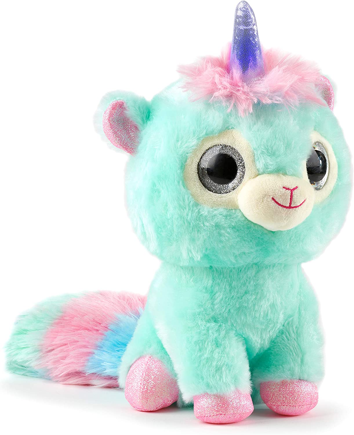WowWee Ploosh Glowcorns - Llamacorn Interactive Plush with Light-up Horn