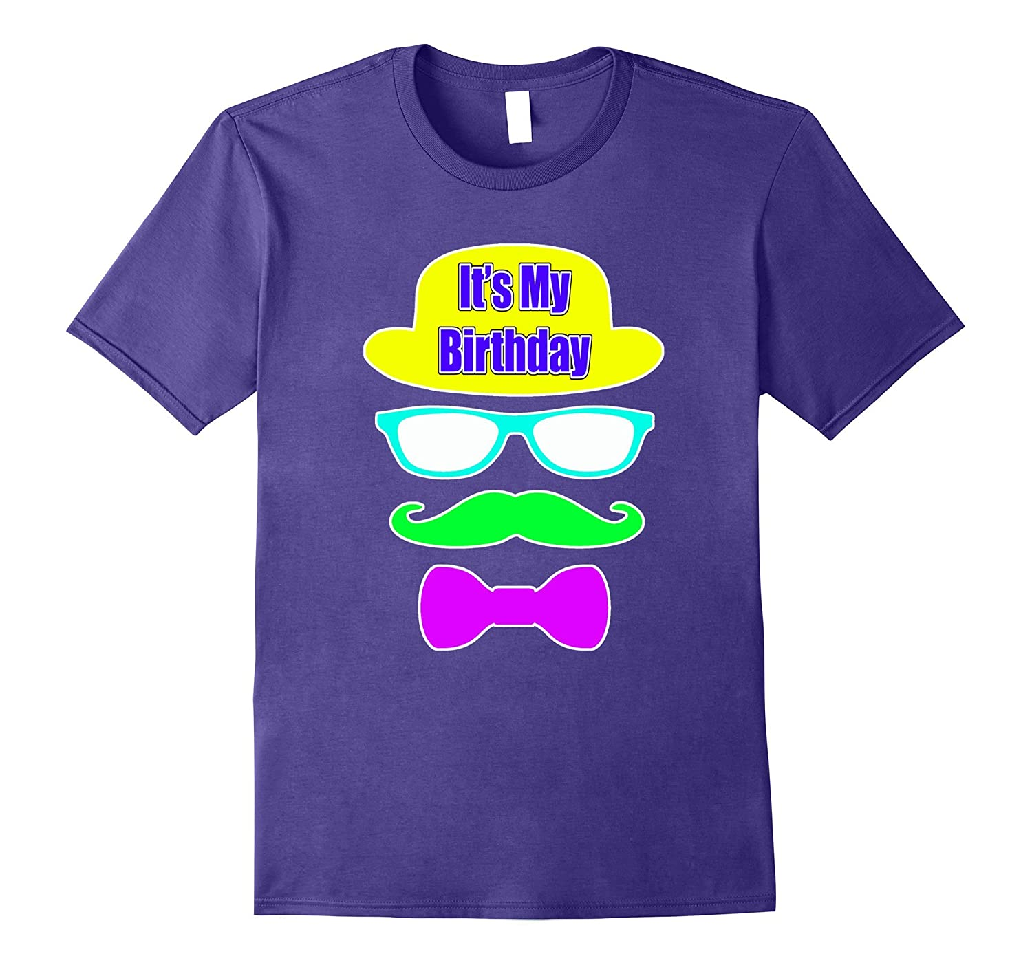 Party Hat It's My Birthday Glasses Mustache Tie Theme-FL