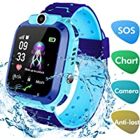 Smart Watch for Kids With GPS Tracker, lesgos Waterproof 1.44 Inch Hd Touch Screen Smartwatch Slim Kid Tracker with Two Way Call, SOS, Camera,Voice Chat, Wrist Phone Watch for Children Girls Boys Gift