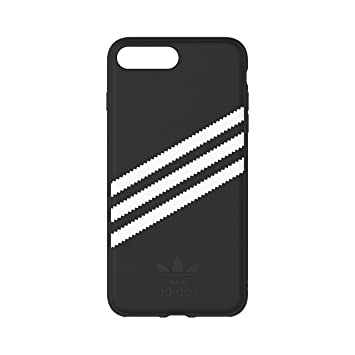 big sale 9c1a7 89138 Adidas Originals Suede Moulded Case for Apple iPhone 8 Plus / 7 Plus / 6  Plus - Black/White