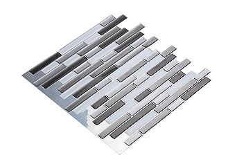 Wall Craft D Mosaik Fliesensticker Selbstklebend Stück Für Küche - Fliesen 10 x 30 weiß