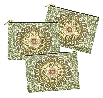 Timingila Menta verde3 Mandala Bolsa de cosméticos Bolsa de ...