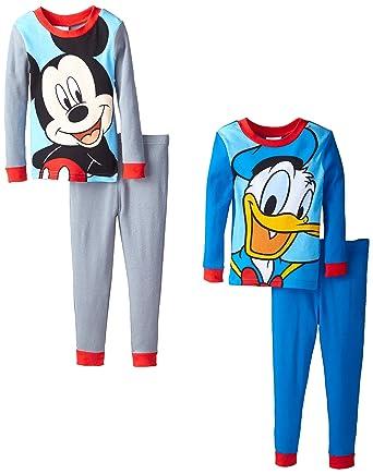 Amazon.com  Disney Little Boys  Mickey Mouse and Donald 4-Piece ... fbdcbd45d
