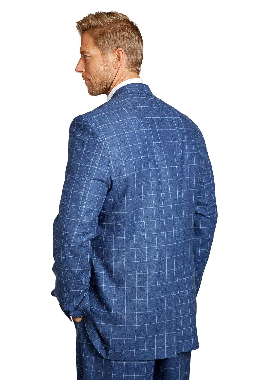 Kingsize Signature Collection Mens Big /& Tall Linen Blend Two-Button Suit Jacket