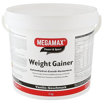 MEGAMAX - Weight Gainer - Suplemento para ganar peso y masa muscular - Vainilla - Solo