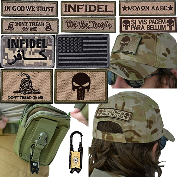0b2fb050351 Amazon.com  Military Tactical Hat Bundle  20-in-1 Tool