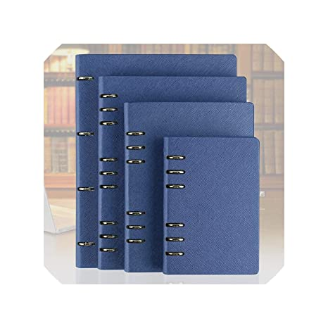 Amazon.com : E Faux Leather Notebook A5 B5 A4 Big Spiral ...
