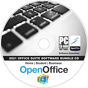 2021 Office Suite - Business, Home & Student CD for Windows 10, 8.1 8 7 Vista XP 32 64bit - Alternative to Microsoft Office Powered by Apache OpenOffice - Compatible with Word, Excel and PowerPoint