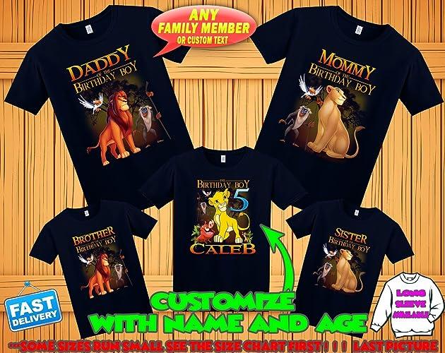 Lion King Birthday Shirt Family Shirts Theme Party