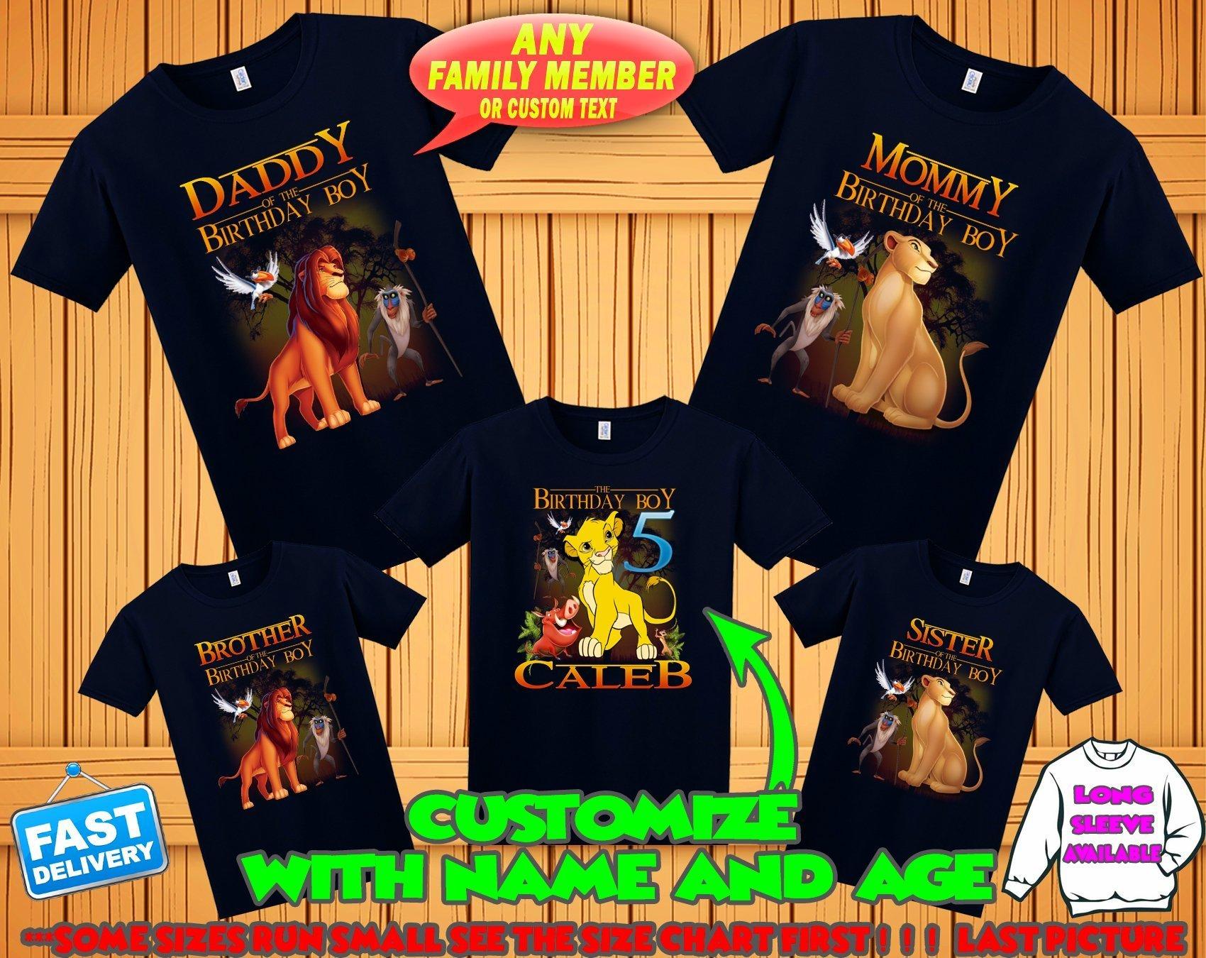 Lion King birthday shirt, Lion King family shirts, Lion King theme party shirts, Lion King matching shirts, Lion King tshirt, hakuna matata by Birthday T-shirts